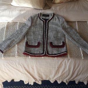 NWOT ZARA Tweed Blazer. Never worn.